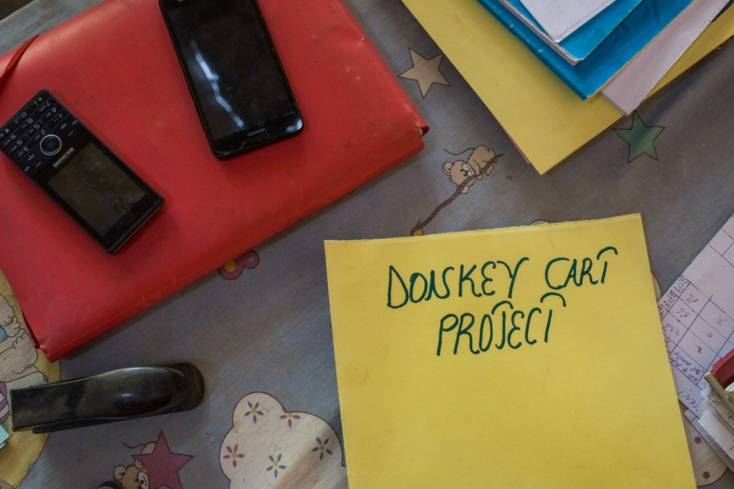 The headmaster's 'Donkey Cart' file, at the Sare Babou school in central Gambia. Photo Credit: Aylin Elci
