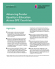 Advancing gender equality in education across GPE countries
