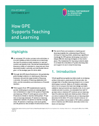 How GPE supports teaching and learning