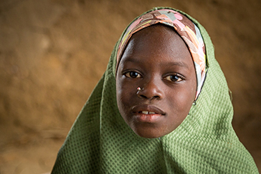 Mariam Isah is 8 years old and attends second grade in Nigeria. Credit: GPE/Kelley Lynch