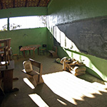 Photo of an empty classroom in a school in Honduras. © GPE/Paul Martinez