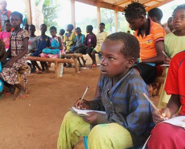 Despite the difficult situation after the crisis, many Central African children are very serious about going to school and learning. Credit: UNICEF CAR/2015/KIM