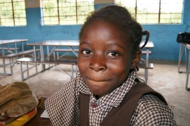 A school girl in The Gambia. Credit: GPE