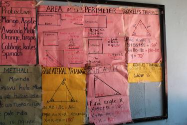 Learning geometry, Marikani Government School, Nairobi, Kenya. Credit: GPE/Deepa Srikantaiah