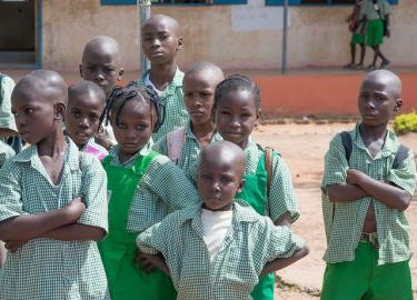 Children at Kuje Primary School in Abuja, Nigeria. Credit: A World At School/Nick Cavanagh