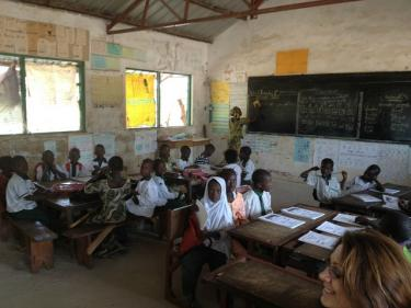 A classroom in the Gambia. Credit: GPE