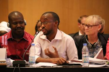 Samba Bah at the GPE Board Meeting in Dakar, Senegal December 2015. Credit: GPE/Chantal Rigaud